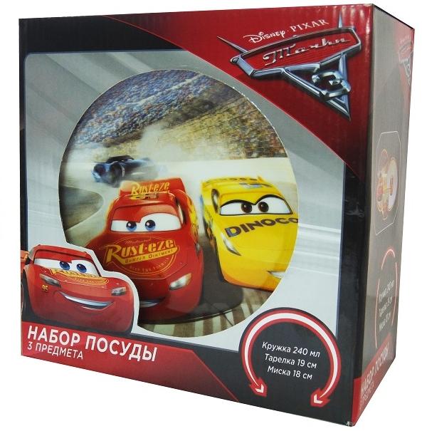 Набор посуды Тачки 3Набор посуды Тачки 3 создан по мотивам третьей части американского полнометражного анимационного фильма от студии Pixar.<br>