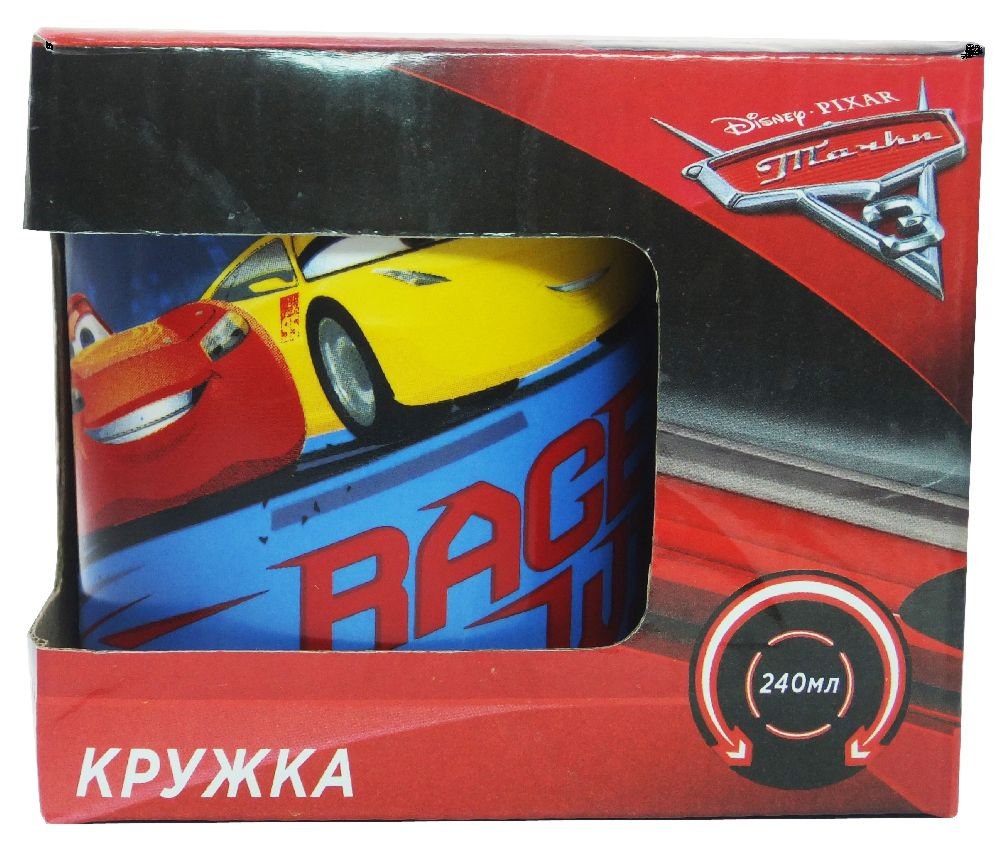 Кружка Тачки 3: Гонка (240 мл)Кружка Тачки 3: Гонка создана по мотивам третьей части американского полнометражного анимационного фильма от студии Pixar.<br>