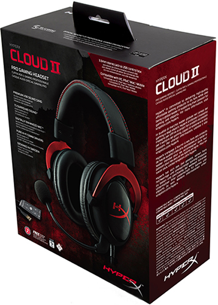 Гарнитура HyperX Cloud II Red проводная игровая для PC amorphis amorphis under the red cloud 2 lp