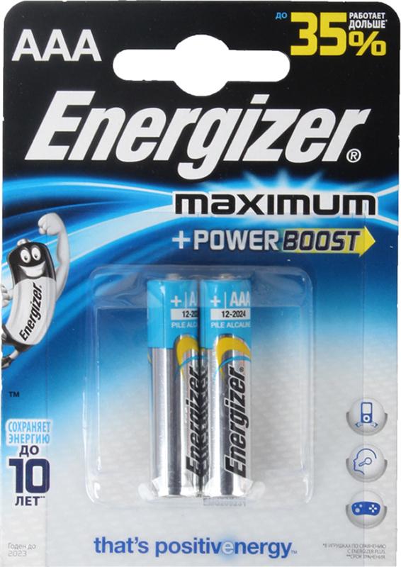Элемент питания Energizer Maximum LR03/E92 AAA FSB (2 шт.)Батарейки Energizer Maximum LR03/E92 AAA FSB специально созданы для работы с цифровыми устройствами, которые нуждаются в стабильном и надежном источники питания. Они отличаются надежностью, долговечностью и стабильной работой. В заражено состоянии могут храниться до 10 лет. Поставляются в блистерной упаковке по 2 штуки.<br>