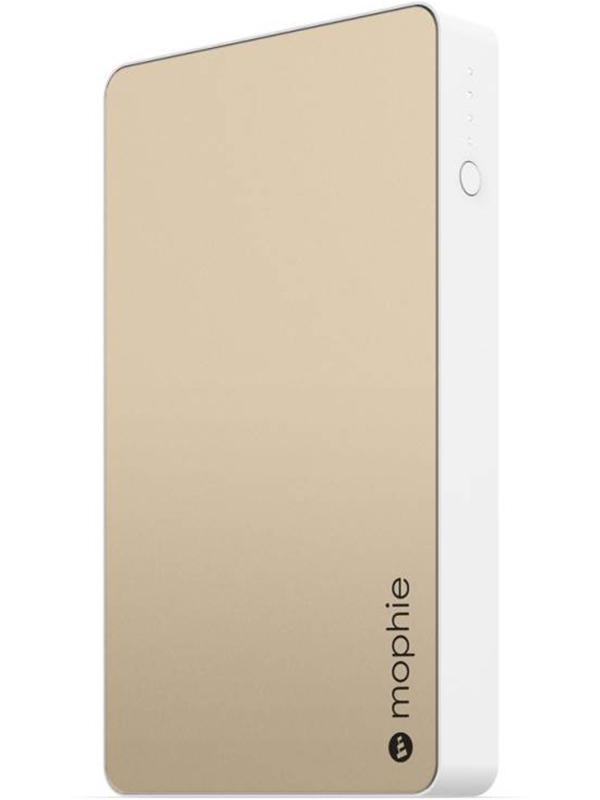 Портативное зарядное устройство Mophie Powerstation XL (золотой)Внешний портативный аккумулятор Mophie Powerstation XL из алюминия обладает утонченным и тонким дизайном и идеально подойдет для вашего мобильного образа жизни. Имеется LED индикатор заряда. Два полноценных USB порта позволят заряжать сразу несколько мобильных устройств. Технология Priority+ Charging позволяет заряжать устройство вместе с аккумулятором от одного подключения к сети.<br>