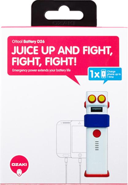Портативное зарядное устройство Ozaki O!tool-Battery-D26 (белый) чехол накладка для iphone 6 ozaki o coat 0 3 jelly oc555tr пластик прозрачный