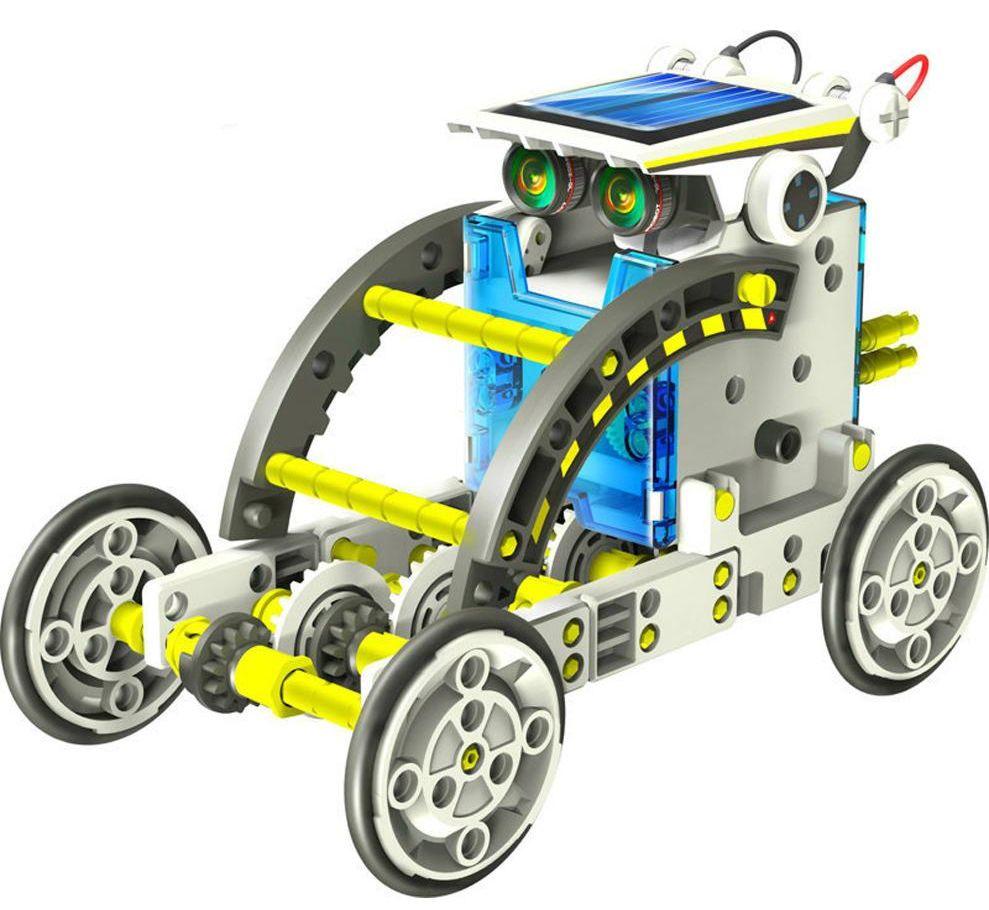 Конструктор Роботостроение (14 в 1)В наборе Роботостроение 14 моделей (черепаха; ходун; квадробот; вездеход; лодка; жук; собака; автобот; краб; мопед; колесо; зомби; серфер; каноэ) для сборки с инструкцией.<br>