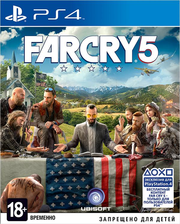 Far Cry 5 [PS4]Закажите игру Far Cry 5 до 17:00 часов 22 февраля 2018 года и получите в подарок наборы «Выживальщик» и «Хаос».<br>