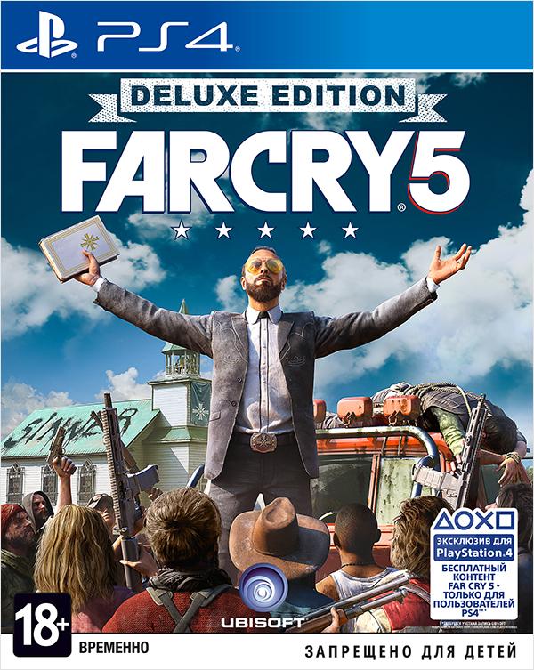 Far Cry 5. Deluxe Edition [PS4]Закажите игру Far Cry 5. Deluxe Edition до 17:00 часов 22 февраля 2018 года и получите в подарок набор «Выживальщик».<br>