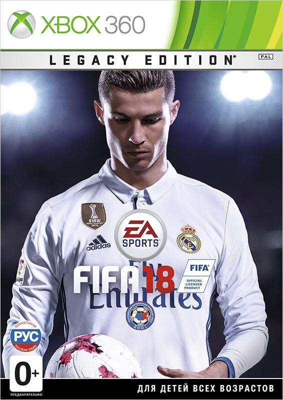 FIFA 18. Legacy Edition [Xbox 360]Закажите футбольный симулятор FIFA 18. Legacy Edition для Xbox 360 до 17:00 часов 27 сентября 2017 года, и вы получите тему FIFA 18 и до пяти больших золотых премиум-наборов (по одному в неделю в течение пяти недель).<br>