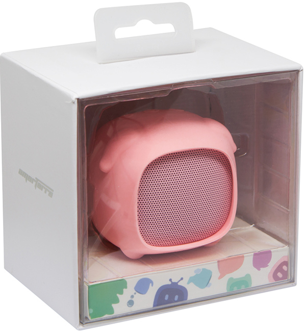 Беспроводная колонка Smarterra Sweet Things PAS-ST100 PIGGY (розовая свинка)Беспроводная колонка Smarterra Sweet Things создана для ценителей индивидуальности и компактности. Колонку удобно носить с собой в сумке благодаря маленьким размерам и весу, а яркий и неповторимый дизайн привлекает внимание окружающих и поднимает настроение.<br>