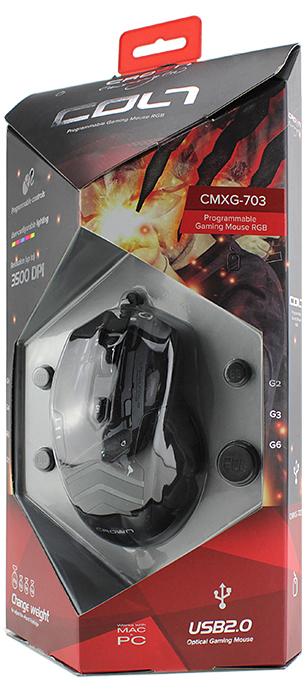 Мышь Crown CMXG-703 Colt Black проводная оптическая игровая c подсветкой для PC мышь crown cmxg 605 беспроводная игровая для pc