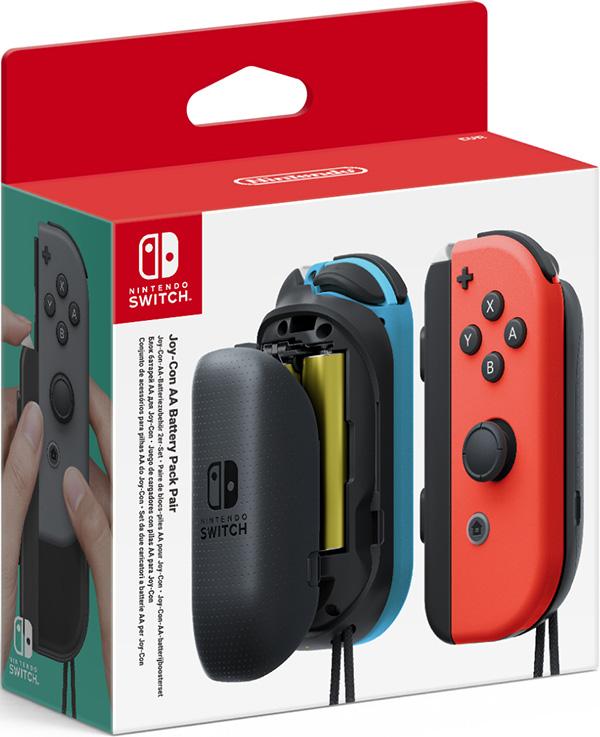 Дополнительные батареи для Joy-Con для Nintendo SwitchС помощью данного аксессуара вы сможете продлить время работы контроллеров Joy-Con, используя батарейки типа AA. Включает в себя блок батарей АА для левого и правого контроллера Joy-Con и 4 АА батарейки. Контроллеры Joy-Con продаются отдельно.<br>