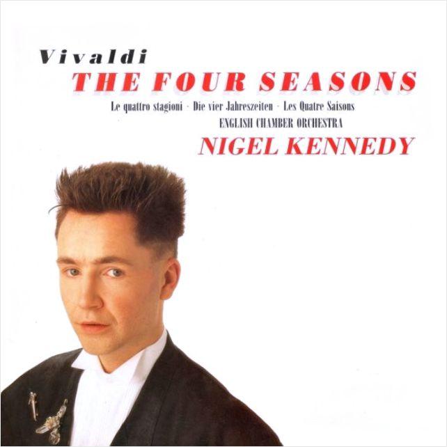 Nigel Kennedy – Vivaldi: The Four Seasons (LP)Vivaldi: The Four Seasons – запись цикла из четырёх скрипичных концертов венецианского композитора Антонио Вивальди (1678–1741) в исполнении британского скрипача-виртуоза Найджела Кеннеди и Английского камерного оркестра под его руководством.<br>