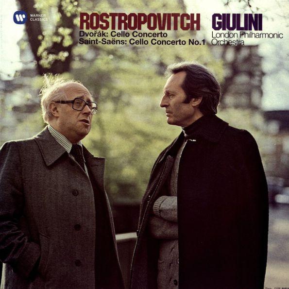 Mstislav Rostropovich, London Philharmonic Orchestra, Carlo Maria Giulini – Dvorak: Cello Concerto & Saint-Saens. Cello Concerto No. 1 (2 LP)
