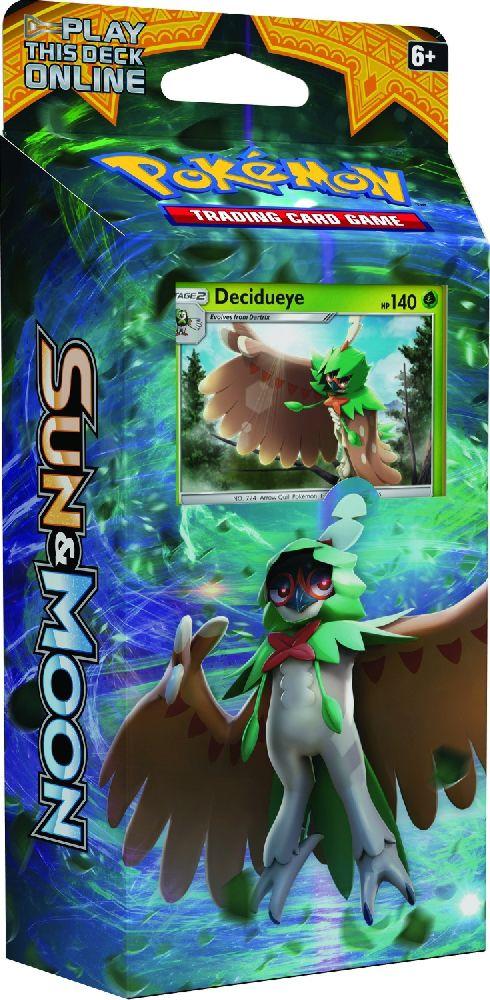 Коллекционная карточная игра Pokemon Sun &amp; Moon: тематическая колода Forest ShadowДесиджуай перемещается сквозь деревья с великолепной скрытностью! Мощная колода Forest Shadow нарисует мишень на вашем сопернике – и попадёт в яблочко.<br>