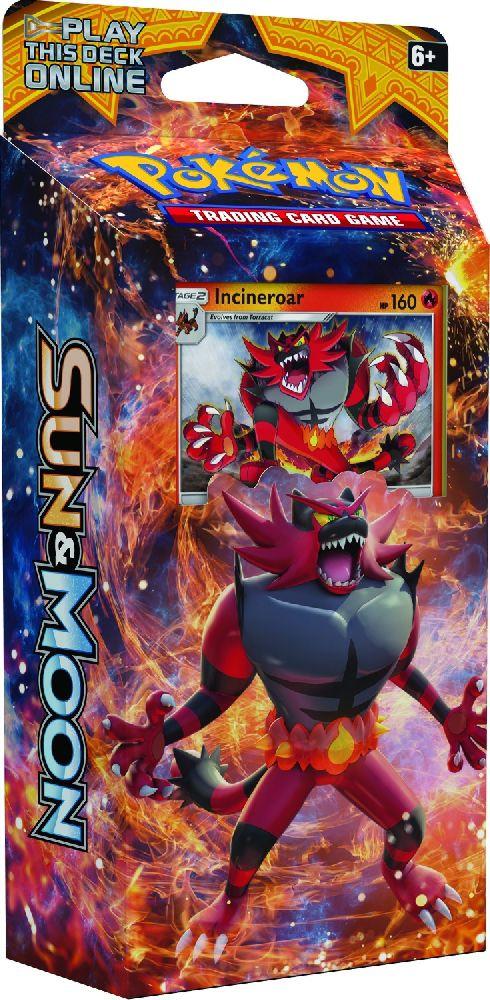 Коллекционная карточная игра Pokemon Sun &amp; Moon: тематическая колода Roaring HeatОгненная мощь Инсинероара взрывает всё вокруг себя! Добавьте топлива в огонь вкупе с чистой силой и агрессией тематической колоды Roaring Heat , чтобы оставить противника ни с чем!<br>