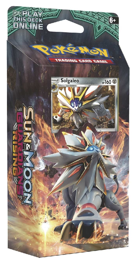 Коллекционная карточная игра Pokemon Sun &amp; Moon Guardians Rising: тематическая колода Steel SunВстречайте Солгалео, Покемона с огненной силой! Эта сбалансированная колода предлагает вам сыграть Покемонами двух типов, Металлического и Психического, а также проверит навыки вашего оппонента.<br>
