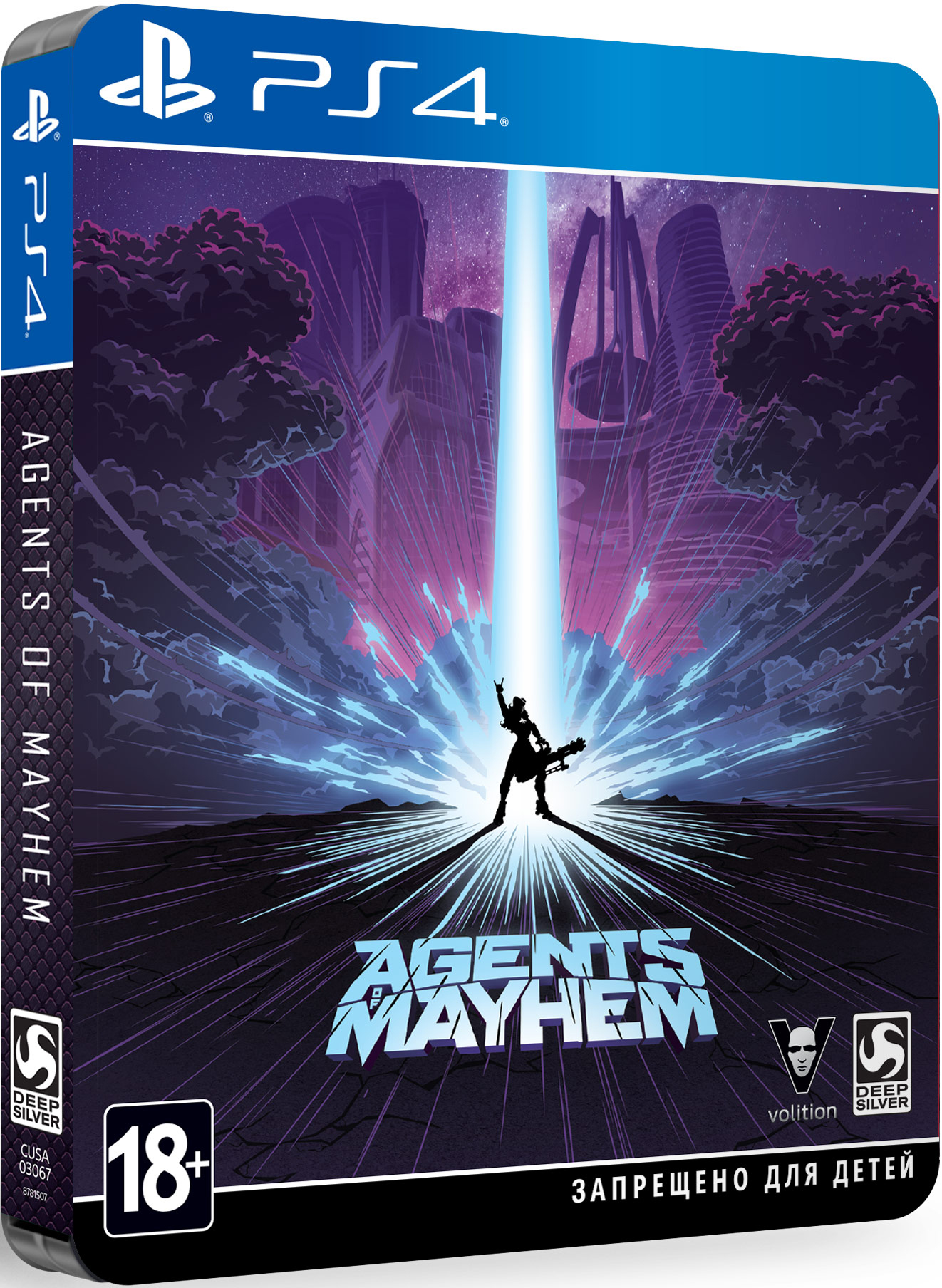 Agents of Mayhem. Steelbook Edition [PS4] saints row iv re elected игра для ps4