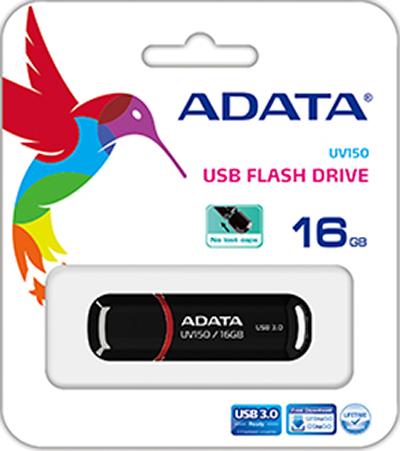 USB накопитель UD ADATA 16 ГБ UV150 (black)USB накопитель UD ADATA UV150 сочетает классический внешний вид, сверхскоростной интерфейс USB 3.0 и покрытие с жемчужным отливом. Минималистский дизайн этих накопителей, выпускаемых в сверкающе агатовом или ярко красном корпусе, делает их модным и практичным аксессуаром как в городе, так и на природе.<br>