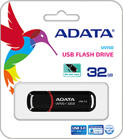 USB накопитель UD ADATA 32 ГБ UV150 (black) накопитель ssd a data adata ultimate su800 512gb asu800ss 512gt c