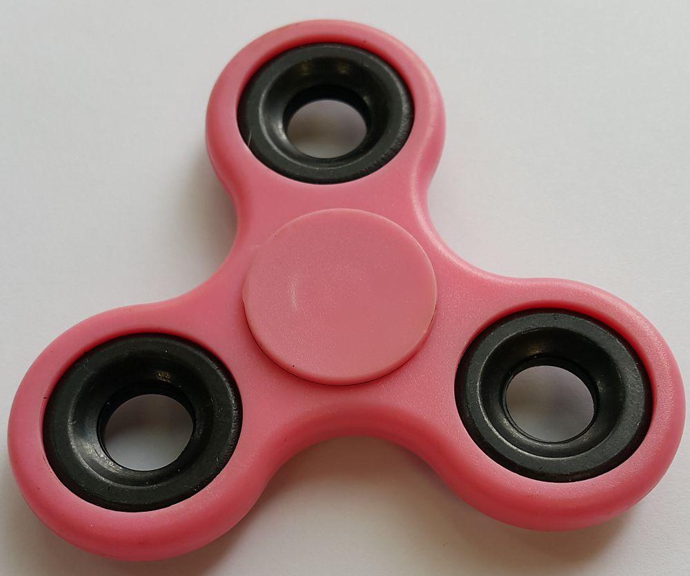 Спиннер пластиковый – металлический подшипник (розовый)