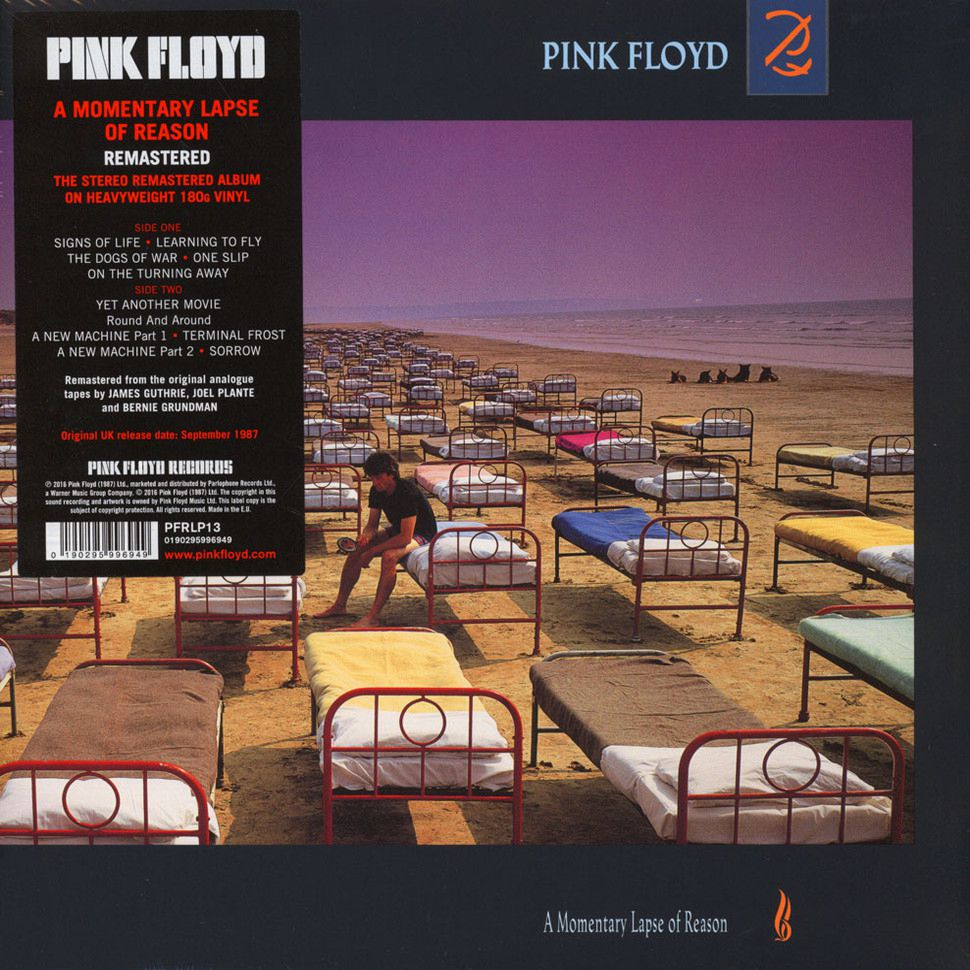 Pink Floyd – A Momentary Lapse Of Reason (LP) pink floyd – wish you were here limited edition lp
