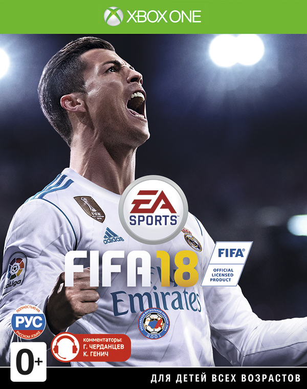 FIFA 18 [Xbox One]Вы готовы к величайшему сезону в истории? FIFA 18 на базе Frostbite стирает границы между виртуальным и реальным миром, досконально воссоздавая игроков, команды и атмосферу настоящего футбола.<br>