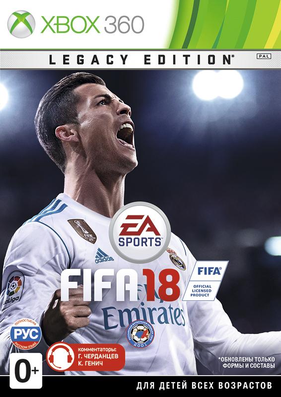 FIFA 18. Legacy Edition [Xbox 360]В FIFA 18  вас ждут великолепный игровой процесс и непревзойденная реалистичность, а также обновленные формы и составы, улучшения режима карьеры, FIFA Ultimate Team – и многое другое.<br>