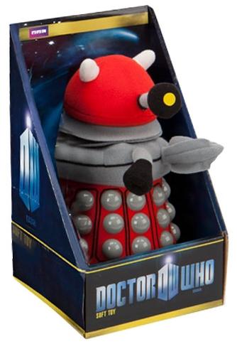 Мягкая игрушка Doctor Who: Dalek (красный) (20 см)Мягкая игрушка Doctor Who: Dalek создана по мотивам культового британского научно-фантастического телесериала компании «Би-би-си» об инопланетном путешественнике во времени, известном как Доктор.<br>