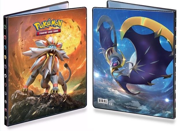 Альбом для карт Pokemon: Солгалео и Лунала настольные игры tomy альбом для карт покемон синий 9 1 pokemon silhouettes pro binder 9 pocket