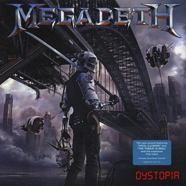 Megadeth – Dystopia (LP)Dystopia – пятнадцатый студийный альбом американской метал-группы Megadeth, выпущенный 22 января 2016 года.<br>