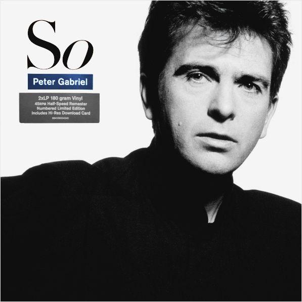 Peter Gabriel – So (2 LP)Лимитированное переиздание студийного альбома So 1986 года Питера Гэбриэля на двух виниловых пластинках (45 оборотов). В записи трека Dont Give Up приняла участие известная певица Kate Bush.<br>