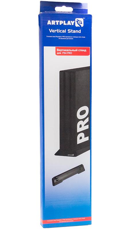 Подставка Artplays для вертикальной установки PS4 ProУдобный  и простой вертикальный стенд (подставка) Artplays с резиновыми ножками против скольжения, позволяет установить консоль в вертикальном положении. Это существенно экономит пространство в Вашей комнате и безопасно для консоли.<br>