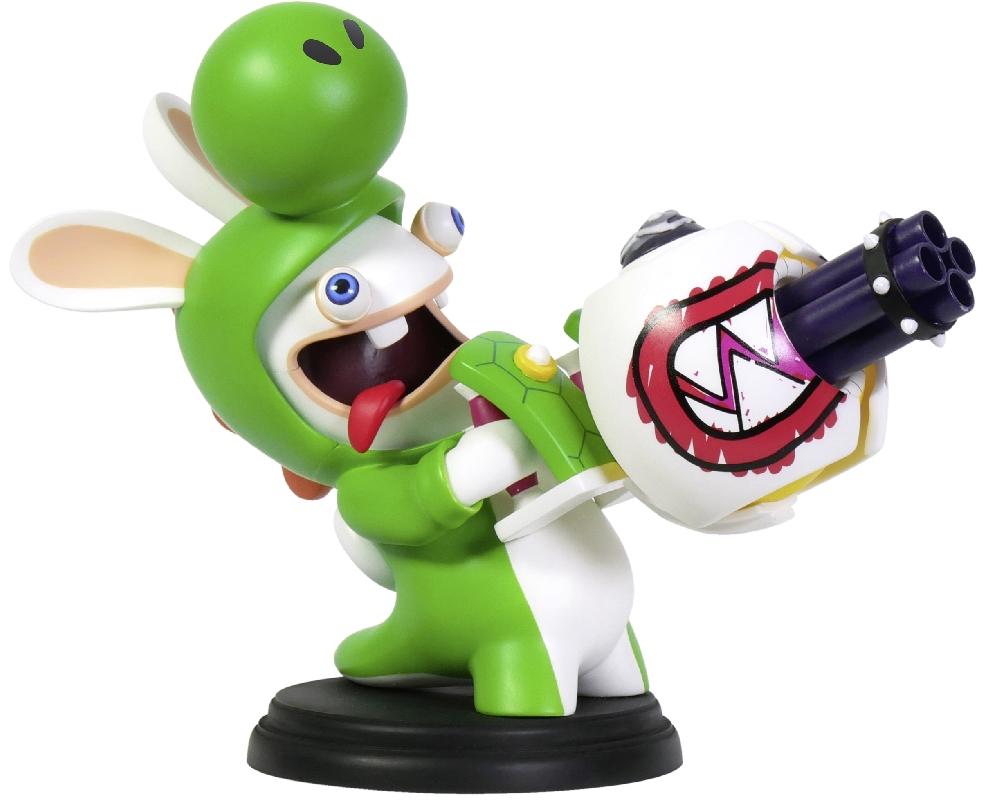 Коллекционная фигурка Mario + Rabbids: Битва За Королевство – Кролик-Йоши (15,24 см)Герои являются миру в самые темные времена... Это фигурка безумного Кролика-Йоши с огромным пулеметом, готового снести все вокруг и не только.<br>
