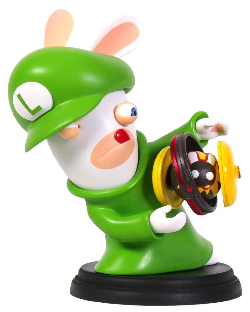 Коллекционная фигурка Mario + Rabbids: Битва За Королевство – Кролик-Луиджи (15,24 см)Герои являются миру в самые темные времена... Это фигурка Кролика-Луиджи с волшебным оружием, принцип действия которого он не вполне осознает.<br>