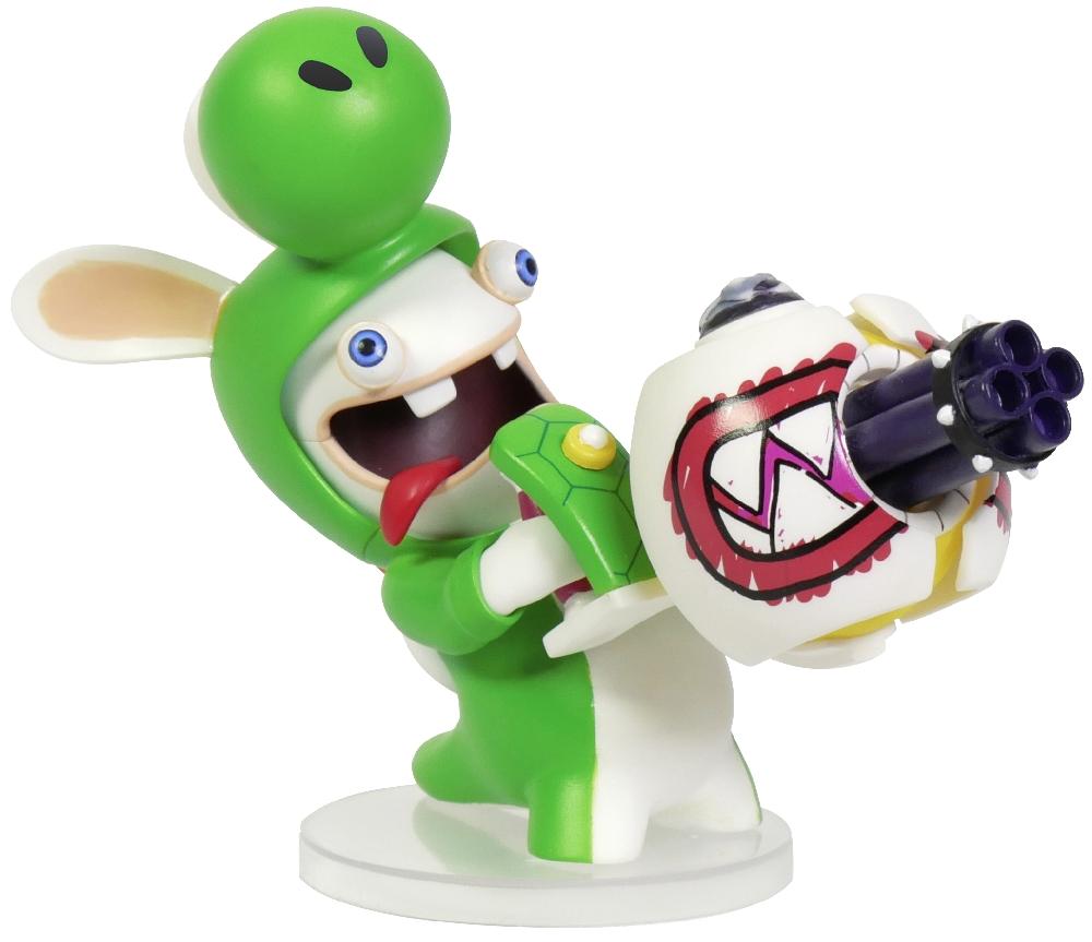 Коллекционная фигурка Mario + Rabbids: Битва За Королевство – Кролик-Йоши (7,62 см)Герои являются миру в самые темные времена... Это фигурка безумного Кролика-Йоши с огромным пулеметом, готового снести все вокруг и не только.<br>