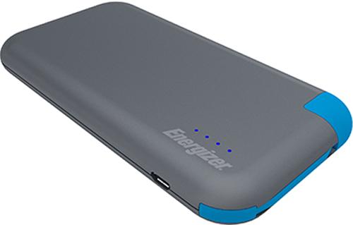 Портативное зарядное устройство Energizer UE8001M (Grey/Blue)Портативное зарядное устройство Energizer UE8001M &amp;ndash; это ультратонкий внешний аккумулятор с емкостью 4 Ач, позволяющий заряжать гаджеты с силой тока 2 А. В комплект входит удобный и яркий кабель-переходником с разъемами USB и microUSB. Аккумулятор пригодится в местах, удаленных от источника электроэнергии, и позволит быстро зарядить смартфон или планшет.<br>