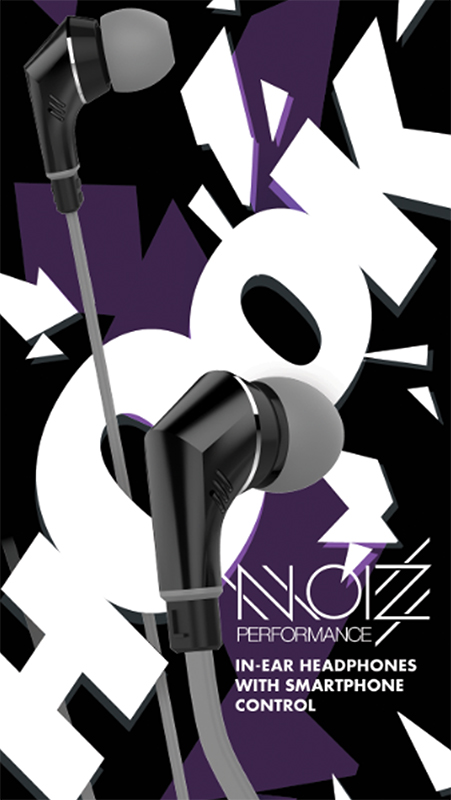 Гарнитура NOIZ Performance HOOK Gray Black цены онлайн