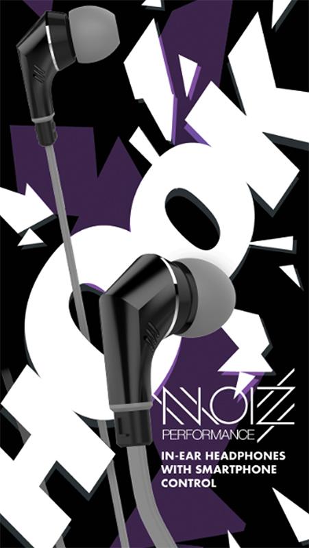 Гарнитура NOIZ Performance HOOK Gray BlackНаушники NOIZ Performance HOOK Gray Black обеспечивают точную подгонку и обеспечивают точный звук с насыщенным басом, идеально подходящий для вашего прослушивания, а эргономичная форма делает звук полностью звукоизолирующим и гарантирует прозрачный звук. Они легкие, удобные и долговечные. Длительные слушания &amp;ndash; это удовольствие. Благодаря встроенному контроллеру, который оснащен микрофоном и функцией контроля дорожки, вы можете легко управлять всеми функциями громкой связи вашего мобильного или MP3-плеера.<br>