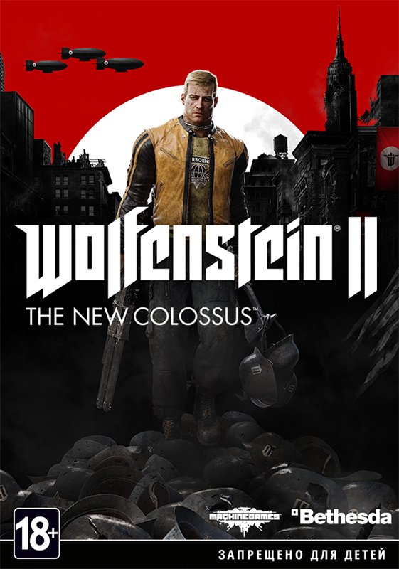 Wolfenstein II: The New Colossus  [PC, Цифровая версия] (Цифровая версия) sw 0003 replacement full housing case buttons for xbox one wireless controller deep blue