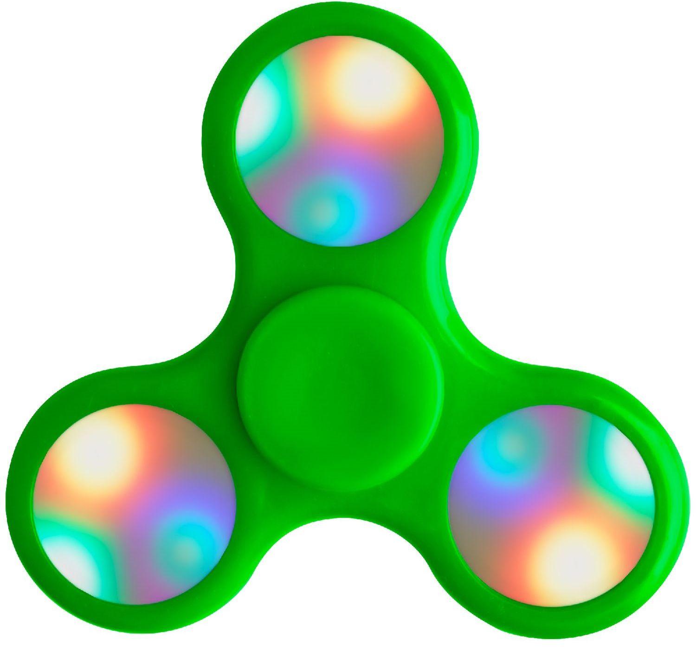 Спиннер пластиковый P26 со светодиодной подсветкой (зеленый)P21 – 3-х лопастной спиннер с встроенной светодиодной подсветкой. Металлический подшипник 4 варианта подсветки для каждой лопасти. 9 светодиодов, более 50 вариантов световых комбинаций.<br>