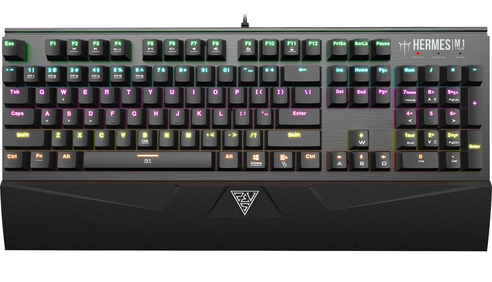 Клавиатура Gamdias Hermes M1 7 Color проводная игровая с подсветкой для PCGamdias Hermes M1 7 Color имеет программируемые G-клавиши, которые позволяют быстро получить доступ к любимым макросам, предустановкам и комбинациям клавиш.<br>
