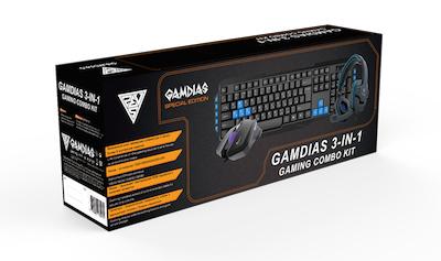Игровой комплект Gamdias (3-in-1): клавиатура + мышь + наушники для PC цены онлайн