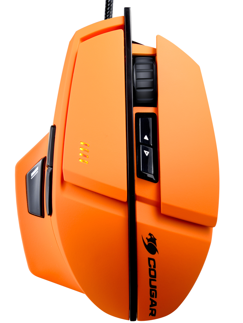 Мышь Cougar 600M проводная лазерная игровая для PC (оранжевая)Игровая мышь Cougar 600М имеет корпус обтекаемой формы и содержит начинку топовой модели Cougar 700М. Дизайн мыши Cougar 600М уникален, выполнен в высококачественном матовом софт тач пластике.<br>