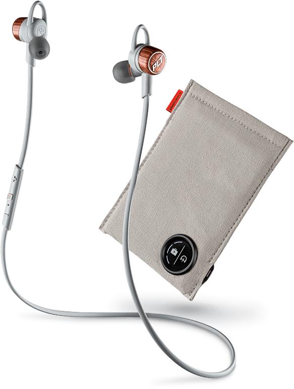 Bluetooth гарнитура Plantronics BackBeat GO 3 + зарядное устройство-чехол (серая)