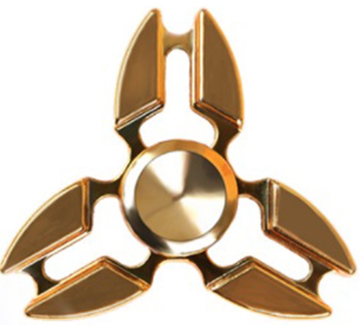 Спиннер металлический: Золотой спиннер металлический трехлистный золотой