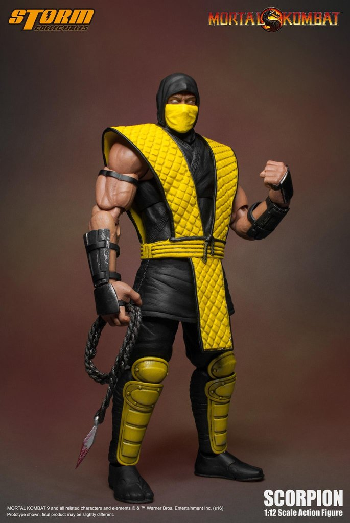 Коллекционная фигурка Mortal Kombat: Scorpion (17 см)Storm Collectibles в пику последнему дизайну легендарных персонажей последней части культового файтинга «Mortal Kombat» представляет фигурку Зкорпиона в его классическом стиле!<br>