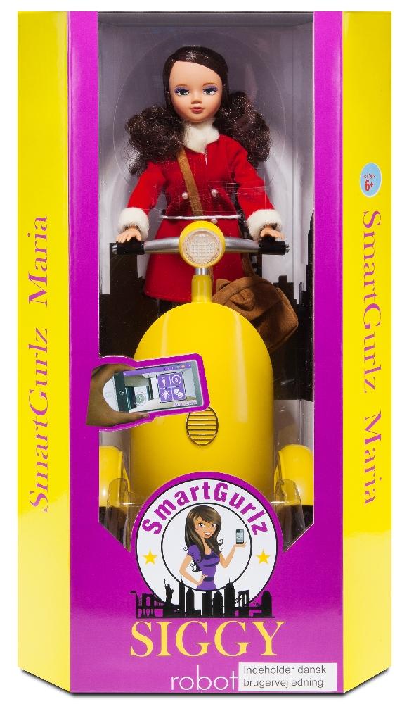 SmartGurlz – Кукла Мария на роботизированном самокате Сиги (желтый)