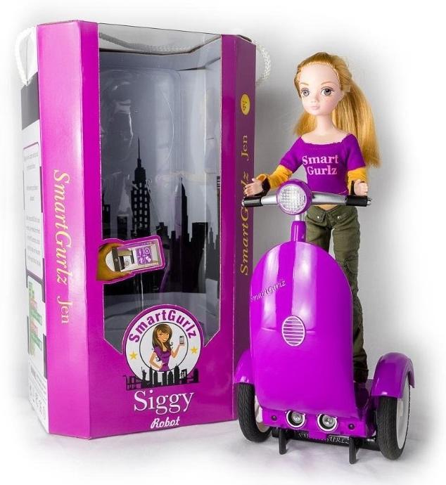 SmartGurlz – Кукла Жанна на роботизированном самокате Сиги (сиреневый)