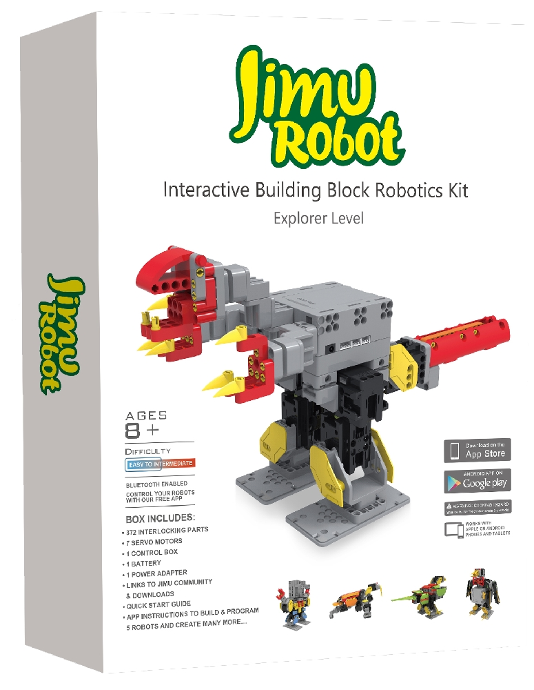 Робот-конструктор Jimu ExplorerРобот-конструктор Jimu Explorer позволяет ребенку или подростку создавать и программировать собственных роботов.<br>