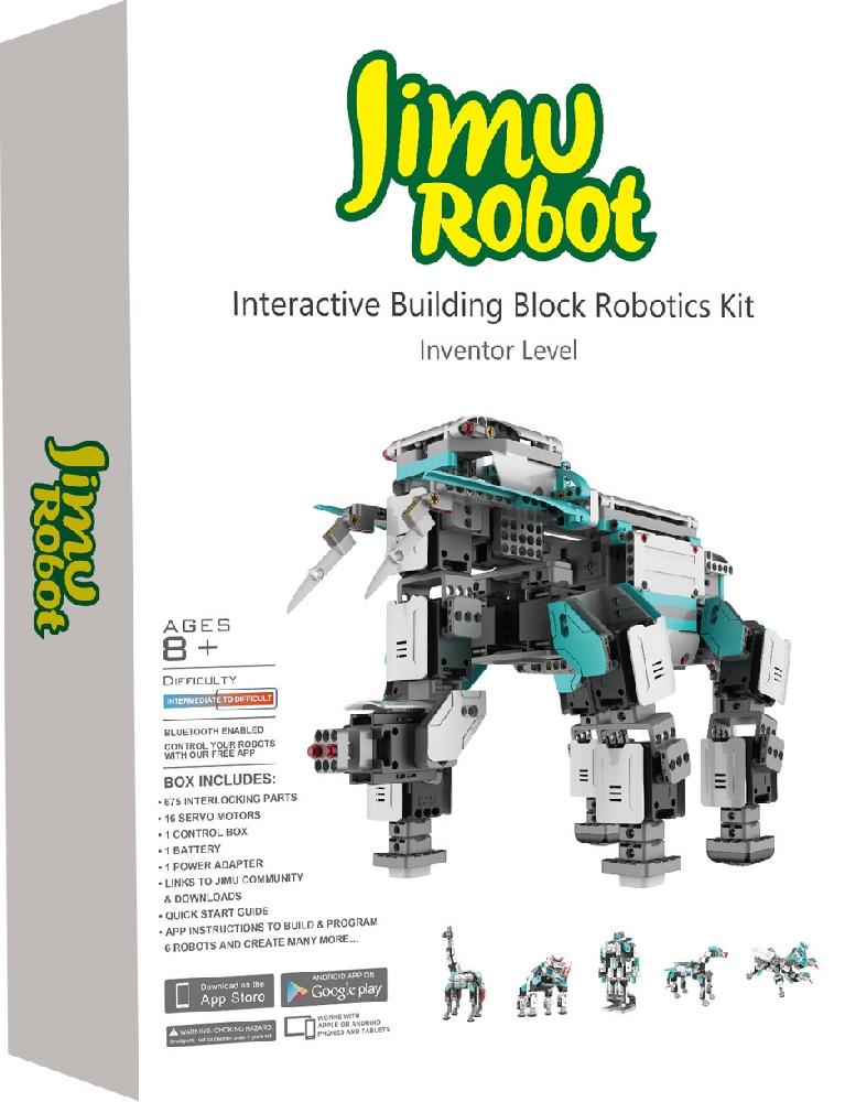 Робот-конструктор Jimu InventorРобот-конструктор Jimu Inventor позволяет ребенку или подростку создавать и программировать собственных роботов.<br>