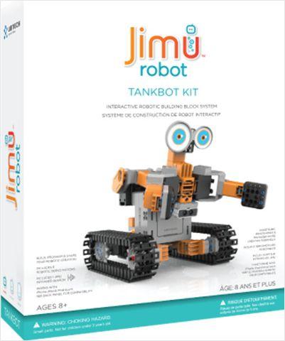 Робот-конструктор Jimu TankBotРобот-конструктор Jimu TankBot позволяет ребенку или подростку создавать и программировать собственных роботов.<br>