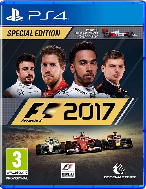 F1 2017. Особое издание [PS4]F1 2017 –  это наиболее полная версия симулятора одного из самых зрелищных и опасных видов автоспорта  - гонок на болидах F1.<br>